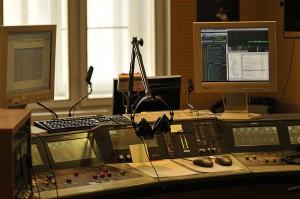 Tak vypadá moje pracoviště - mixážní pult ve studiu Reginy