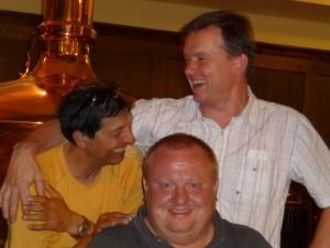 Jarda Hrubý, Michael Dymek (Tomáš z Pánů kluků) a Bohouš Luxík  (Štrůdl)