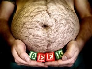 """Pivní břicho - """"pyšníte"""" se něčím podobným? zdroj: flickr.com"""